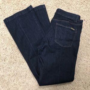 WHBM dark wash Skinny flare jeans